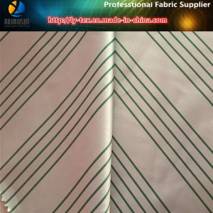 High Density Polyester Stripe Satin Yarn Dyed Fabric for Down Jacket pictures & photos