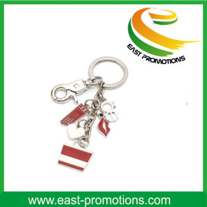 Hot-Selling Personality Multiple Charms Metal Keychain pictures & photos
