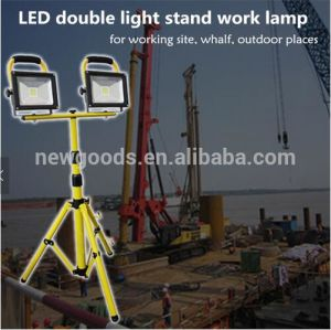 Portable Work Light 10W 20W 30W Rechargeable LED Flood Light with Tripod Stand pictures & photos