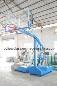 12mm Tempered Glass Backboard Movable with Wheels Basketball Stand pictures & photos