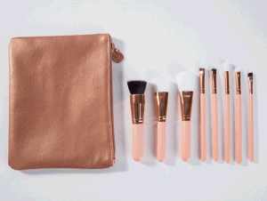 8PCS High-End Facial Makeup Brush Set with PVC Leather Bag pictures & photos