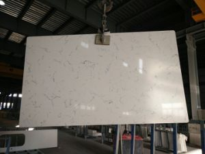 Artificial Carrara White Quartz Countertops for Hospitality & Multifamily Jobs (YQC-006) pictures & photos
