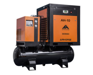 7.5kw Rotary Screw Air Compressor with Integrated Refrigerated Air Dryer pictures & photos