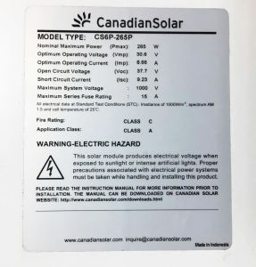 World Famous Brand Tier 1 Poly 250W 260W 265W 270W Canadian Solar Stock pictures & photos