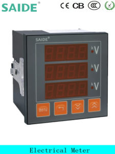 Three Phase Voltmeter with Alarm Size 96*96 AC500V pictures & photos