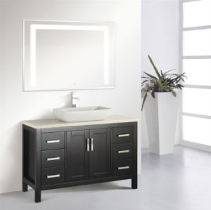 Fancy Bathroom Cabinet with LED Illuminated Mirror pictures & photos