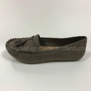 New Casual Flat Heel PU Lady Boat Shoes