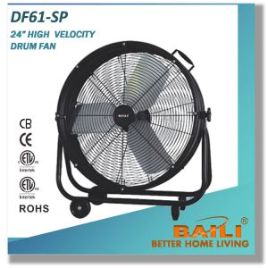 24 Inch Industrial Rolling Floor Fan with Convenient Handle pictures & photos