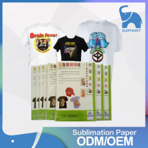 Quick Dry High Quality A4 Size Sublimation T-Shirts Thermal Heat Transfer Paper pictures & photos