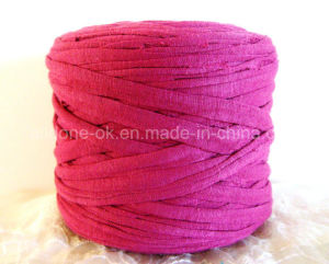 Hand Knitting Crocheting Ecologic Cotton Zpagetti Recycled Elastic T-Shirt Yarn pictures & photos