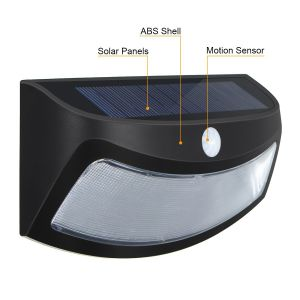 High Quality 8 LED Power PIR Motion Sensor Solar Smiling Wall Lamp, Waterproof Garden Lamp pictures & photos