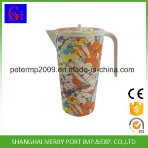 fashion Design 1.7L Bamboo Fiber Watering Jug and Water Cups pictures & photos