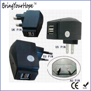 2 USB Output Travel Wall USB Charger (XH-UC-003) pictures & photos