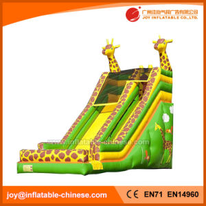 Animal Inflatable Moonwalk Toy/Inflatable Slide with Two Giraffe (T4-209) pictures & photos