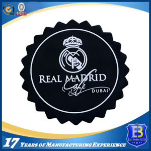 Black Rubber Soft PVC Coaster with Painted Logo pictures & photos
