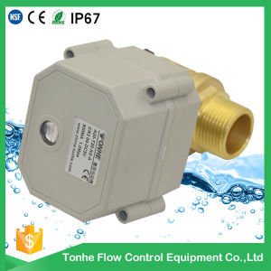 "1"" Inch Dn25 2 Way Brass Male Thread Electric Control Water Motorized Ball Valve pictures & photos"