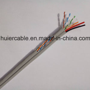 CCTV Cat5e Cable with Power Wires (2DC) , 2 Twisted Pairs pictures & photos