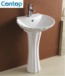 Ceramic Sanitary Ware Pedestal Basin Wash Basin pictures & photos