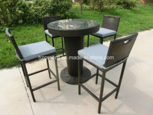 5 Pieces Bar Set with Ice Bucket Outdoor Rattan Furniture pictures & photos