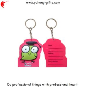 Hot Sale Promotional Double Sides Bulk PVC Keychain (YH-KC179) pictures & photos