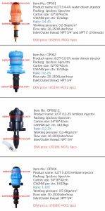 Ilot Water-Driven Fertilizer Injectors Dosing Pumps with 1 Inch Connector pictures & photos