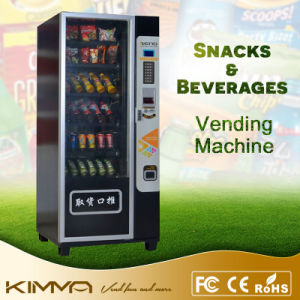 Smart Black Snacks and Beverage Vending Machine with Card Payment pictures & photos