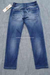11.2oz Loose Fit Jeans Men (HS-21706T) pictures & photos