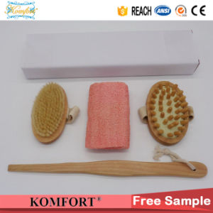 Wood Handle Beauty Dry Skin Boar Bristle Gift Bath Brush Set (JMHF-146) pictures & photos