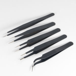 Superhard Senior Anti-Static Tweezers Tip The Elbow Flat Head Package 3/4/5 pictures & photos