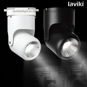 5W-30W White Black COB LED Track Spot Light with 2/3/4 Wires Track Rail Adapter for Commercial Lighting pictures & photos