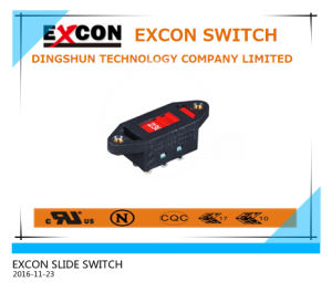 Excon Slide High Rating Switch AC115V to 230V Select 6p Dpdt Solder pictures & photos