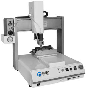 Desktop UV and Hot Melt Gluing Machine for PCB pictures & photos