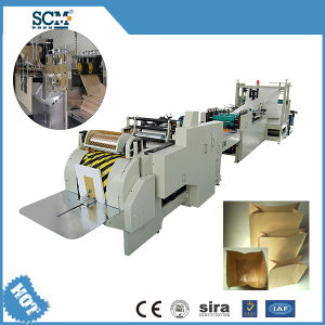 Kraft Square Bottom Paper Bag Making Machine pictures & photos