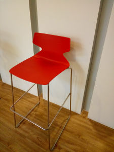 SGS Cetificate Quality Stackable Stainless Steel Barstool pictures & photos