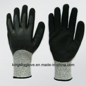 13G Hppe Liner Cut Resistance Nitrile Double Dipped Work Glove (5049) pictures & photos