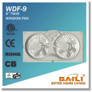 "Hot Sale 9"" Reversible Twin Window Fan pictures & photos"