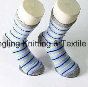 China Socks Factory Cotton Custom Logo Dress Men Socks pictures & photos