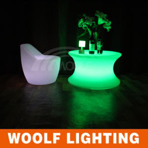 Round LED Table Bar Furniture Rechargeable LED Lighting Tables pictures & photos