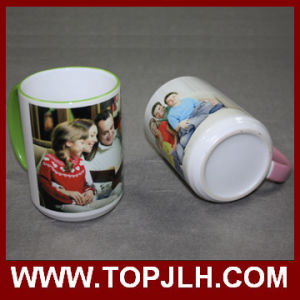 DIY Sublimation 15oz Border Colorful Mug pictures & photos