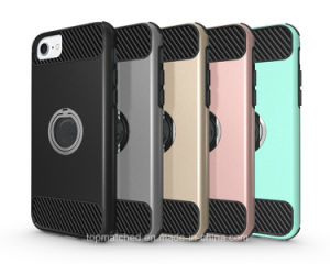 2017 Mobile Accessories Phone Case for iPhone 7plus Back Cover Armor Shockproof Case for iPhone 7 Plus with 360 Ring Buckle pictures & photos