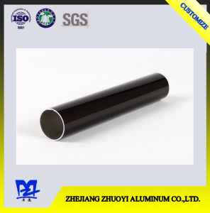 Black Electrophoresis Aluminium Alloy Extruded Round Tube pictures & photos