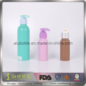 Cylinder Cosmetic Silver Color Aluminum Sprayer Pump Bottle