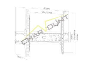 Economy Heavy-Duty Tilting LCD Wall Bracket for 32-70 Inch TV (CT-PLB-E504) pictures & photos