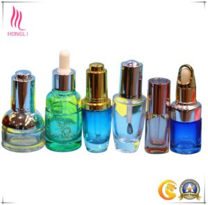 China Empty Custom 30ml Glass Cosmetic Essence Bottles for Oil pictures & photos