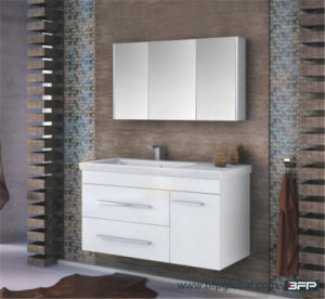 Mirror Door Vanity Cabinet Pure White Color pictures & photos