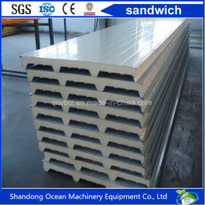 SGS Approved Cold Room Sandwich Panel Rock Wool Panel EPS Wall Panel Color Steel Panel pictures & photos