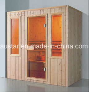 1800mm Rectangle Solid Wood Sauna for 4 Persons (AT-8630) pictures & photos