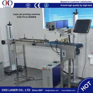 Mobile Case Series Number Fly Online Laser Marking Machine for Pipe Line pictures & photos