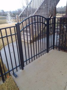 Modern Simple Free Maintenance Residential Arched Garden Single Wing Gate pictures & photos