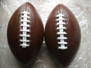 6# PVC Machine Stitching Brown American Football pictures & photos